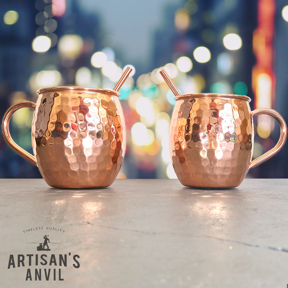Copper Mugs Set 2 Moscow Mules