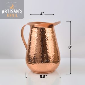 copper-pitcher-dimensions