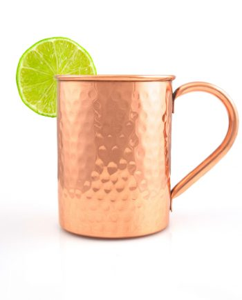 Straight Hammered Finish Handmade Copper Moscow Mule Mug